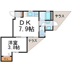 フォレスタ東塚口[1階]の間取り