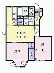 ドリームハウスA・B[B-103 号室号室]の間取り