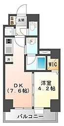 S-RESIDENCE江坂[14階]の間取り