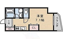 MARSH仁川 3階1Kの間取り