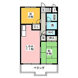 エコタウン勝川[5階]の間取り