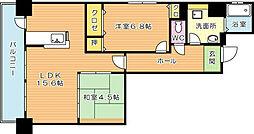 ルワージュ八幡駅前II[8階]の間取り