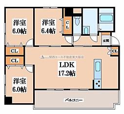 イーストマンションII[4階]の間取り