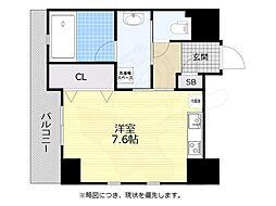 福岡市地下鉄空港線 大濠公園駅 徒歩6分の賃貸マンション 7階1Kの間取り