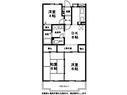 サンモール鶴川[1階]の間取り