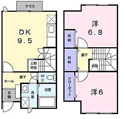 ボンヌシャンツN II[103号室]の間取り