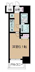 ヴァレッシア武蔵関駅前シティ[703号室]の間取り