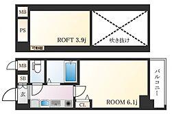 エステムコート神戸県庁前IIIフィエルテ[3階]の間取り