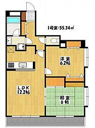 サンプラトー[2階]の間取り