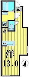 東京都足立区西新井本町2丁目の賃貸アパートの間取り