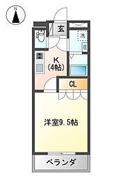 高知市東城山町 賃貸マンション 1K 1階1Kの間取り