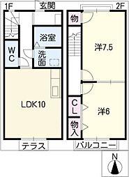 [タウンハウス] 愛知県小牧市大字北外山 の賃貸【愛知県 / 小牧市】の間取り