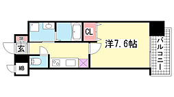 ピアグレース神戸[1402号室]の間取り