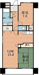 メゾンミヤビ[6階]の間取り