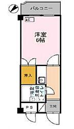 コーポ朝倉[203号室号室]の間取り