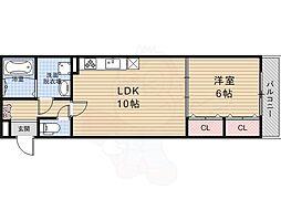 JR東海道・山陽本線 桂川駅 バス14分 東土川橋下車 徒歩4分の賃貸マンション 3階1LDKの間取り