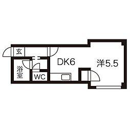 北海道札幌市北区北三十八条西2丁目の賃貸マンションの間取り