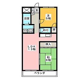 プチハピネス寺田[3階]の間取り
