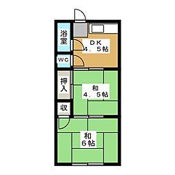 水谷荘(北棟)[2階]の間取り