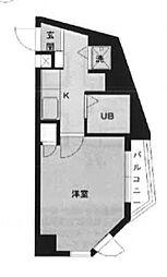 東京都新宿区原町1丁目の賃貸マンションの間取り