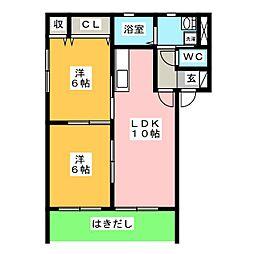 バリュージュ[1階]の間取り