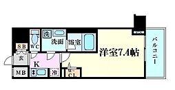 ファーストフィオーレ東梅田 9階1Kの間取り