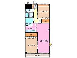 グランドソレイユB棟[2階]の間取り