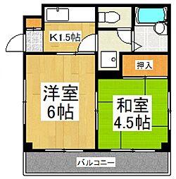 ハイツK[1階]の間取り
