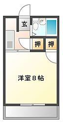 ピュアササキ[2階]の間取り