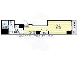 SophisSakurayama 7階1Kの間取り