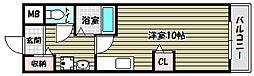 竹城台ハイツMK[3階]の間取り