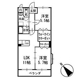 リュミエール中園2 3階[301号室]の間取り