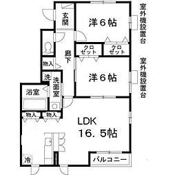 オーク太田I[302号室]の間取り