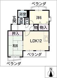 愛知県半田市柊町4の賃貸アパートの間取り
