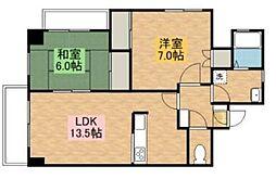 柿生駅前鈴木ビル[3階]の間取り