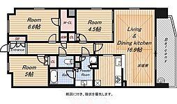 S-GLANZ大阪同心 7階3LDKの間取り