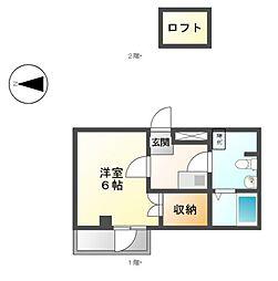 Espace Vibre[2階]の間取り