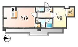 FIRST RESIDENCE SAKAE(ファースト)[7階]の間取り
