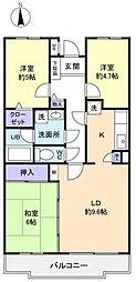 フロイデ勝田台壱番館[2階]の間取り