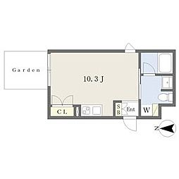 名古屋市営鶴舞線 浅間町駅 徒歩10分の賃貸マンション 1階1Kの間取り
