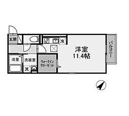 神奈川県相模原市南区上鶴間本町5丁目の賃貸アパートの間取り