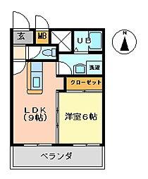 K's1999[502号室号室]の間取り