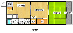 粋緑館[2階]の間取り