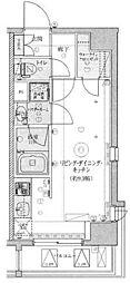 LEXE東京NorthII ~レグゼトウキョウノース~ 2階ワンルームの間取り