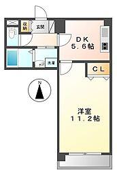 キャッスルプラザ甲子園アネックス[5階]の間取り