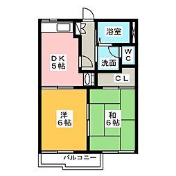フォーブル城西[2階]の間取り