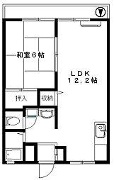 サンシティ塚越 12帖超の広々リビング 駐車場あり[2階]の間取り