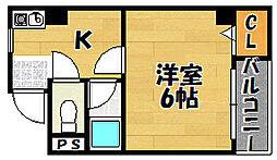 大阪府大阪市東淀川区瑞光1丁目の賃貸マンションの間取り