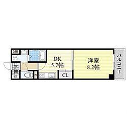 アーバンステージ安堂寺I[11階]の間取り