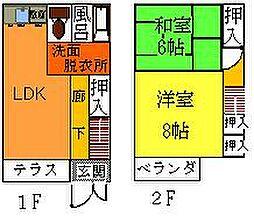 [テラスハウス] 長野県松本市大字島内町 の賃貸【/】の間取り